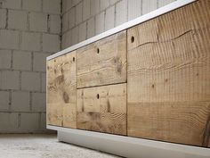 Wooden sideboard with doors TOLA | Sideboard with drawers - Miniforms