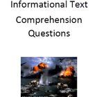 Informational text and comprehension questions for Pearl Harbor....