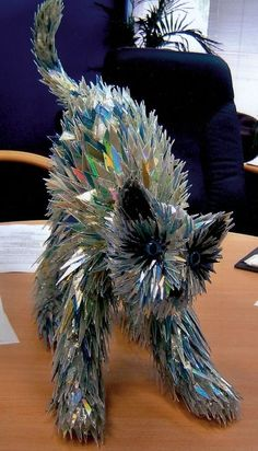 cool recycled cd art from sean avery via Meghan O'Neil