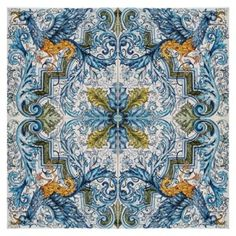 "Tile mural, floor panel, table top - ""Gryphon"""
