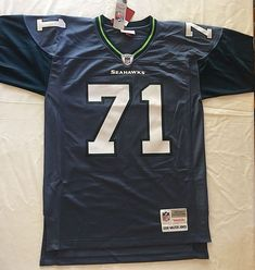 353f25d0d Med Seattle Seahawks Jersey NFL Throwback Mitchell Ness Replica Football W  Jones  MitchellNess  SeattleSeahawks