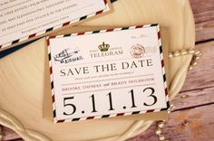 Airmail Wedding Save the Date
