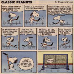 Hockey and Snoopy - how can you go wrong? Flyers Hockey, Hockey Memes, Hockey Quotes, Blackhawks Hockey, Hockey Players, Chicago Blackhawks, Funny Hockey, Hockey Goalie, Red Wings Hockey