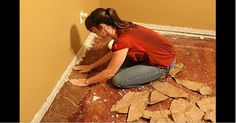 She Glues Brown Paper Bags To The Floor. I Thought It Was Odd – Until I Saw The End Result