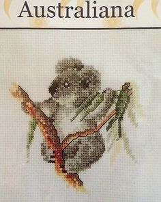 "Dimensions Counted Cross-Stitch Kit Baby Koala Australiana Approx 5"" X 5"" 18 Ct."