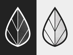 Leaf Logo ||| This log design is really interesting, as it is simple, but it could work in color as well as it works in black and white.: