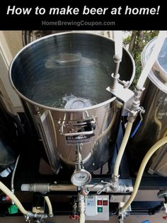 Home Brewing Beer Stand \ Brewsculpture \ Brewing Rack.  20 Gallon Stainless Steel Setup with Electric RIMS mash tun temperature regulator.  http://homebrewingcoupon.com/