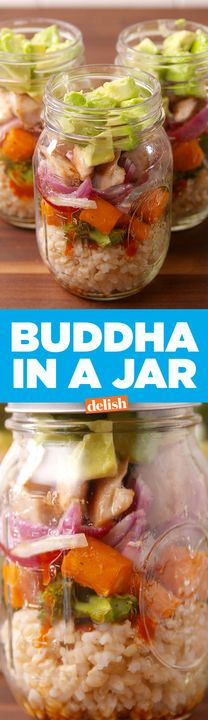 Buddha In A Jar will save you from a boring desk lunch. Get the recipe from Delish.com.