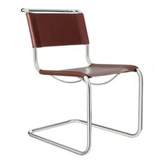 S33 Chair in Chocolate Leather