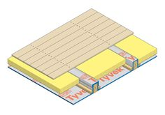 DuPont™ Tyvek® membranes are windtight and vapour-open, providing an excellent way to manage moisture in a suspended timber floor construction.