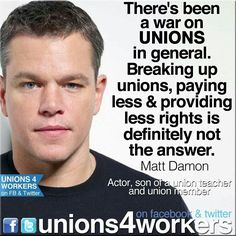 Matt Damion quote on supporting unions