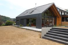 Modern Small House Design, Modern Barn House, Simple House Design, Townsend Homes, House Cladding, Contemporary Barn, A Frame House, Shed Homes, New House Plans