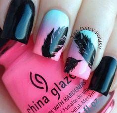 Uñas de plumas