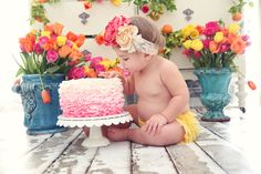 Rustic Cake Smash Session for a First Birthday!--Use the photos on invitations, thank you cards, or display them at the party!  Danika Turns One- {A Portrait Session Too Cute for Words}