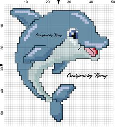 Schema delfino maschio punto croce Mermaid Cross Stitch, Cross Stitch Sea, Free Cross Stitch Charts, Cross Stitch For Kids, Cute Cross Stitch, Cross Stitch Animals, Cross Stitch Kits, Cross Stitch Patterns, Cross Stitching