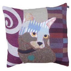 Misty the Silver Cat Cushion