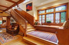Love those windows with the seat below them. What a great place for natural light.