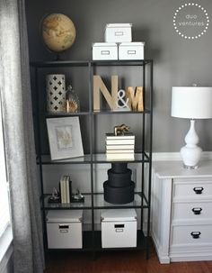 mixing metals on the bookcases (ie. golds, silvers, blacks, whites)