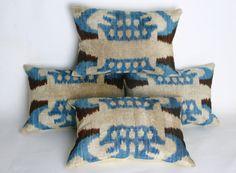 Berzey /Handmade Velvet ikat Pillows 4 pcs Awesome by BERZEY