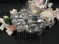 Love swarovski crystal comb