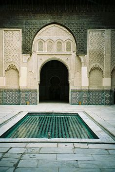 Saved by Inspirationde (inspirationde). Discover more of the best Photography, Ben, Youssef, Madrasa, and Marrakech inspiration on Designspiration Art Et Architecture, Islamic Architecture, Oh The Places You'll Go, Places To Travel, Places To Visit, Portal, Moorish, North Africa, Kirchen