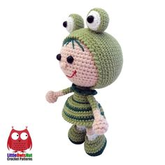 Doll In A Frog Outfit Amigurumi Pattern