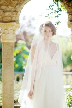 Circle drop veil by Tessa Kim  #bridalveil #veil #weddingveil
