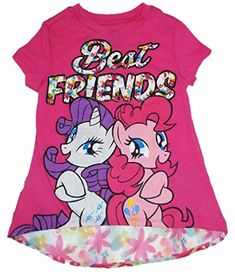 My Little Pony Girls Short Sleeve Pink Floral Best Friends Top @ niftywarehouse.com #NiftyWarehouse #Geek #Fun #Entertainment #Products