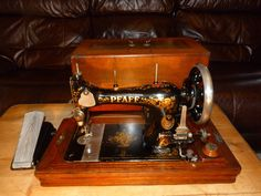 Antique Pfaff Sewing Machine Model K 1907 with Parvalux Electric Conversion