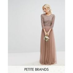 Shop the latest Maya Petite Sleeve Maxi Dress With Delicate Sequin And Tulle Skirt trends with ASOS! Petite Prom Dress, Petite Cocktail Dresses, Sequin Cocktail Dress, Petite Dresses, Sequin Dress, Tulle Bridesmaid Dress, Maxi Dress Wedding, Prom Dresses, Formal Dresses