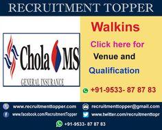 Chola MS walkins for Freshers at Chennai http://www.recruitmenttopper.com/chola-ms-walkins-for-freshers/ #Jobs  #Walkins