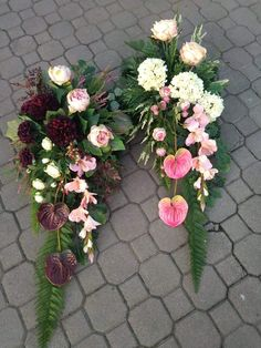 Grave Decorations, Memorial Flowers, Cemetery Flowers, Funeral Flowers, Christmas Wreaths, Floral Wreath, Plants, Art, Garden