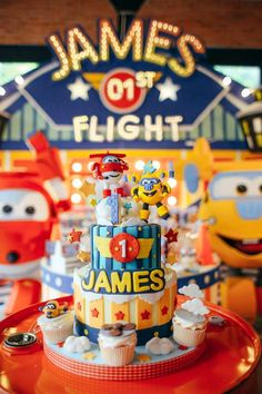 Incredible airplane birthday party! See more party ideas at CatchMyParty.com!