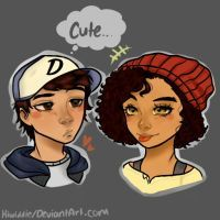 Image result for clementine twd and gabe