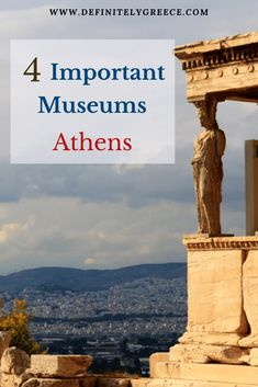 4 Most Important Museums in Athens, Greece! Athens is the capital of Greece and a destination filled with modern and ancient history. This are the best museums to visit for yourself during your stay in Athens. Mykonos Greece, Crete Greece, Athens Greece, Santorini, Places To See, Places To Travel, Travel Destinations, Ancient Ruins, Ancient History