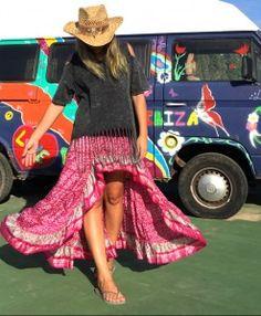 Falda asimétrica Free Love Ibiza hippie chic Las Dalias