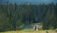 Bride and groom at their Quarry Lake wedding