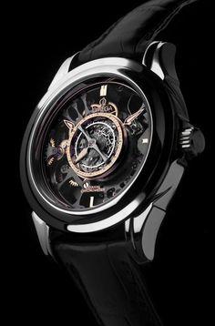 OMEGA Watches skeletonized central tourbillon co axial platinum