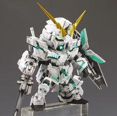 GUNDAM GUY: SD Unicorn Gundam - Customized Build