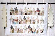 Advent calendar...cute little house pockets