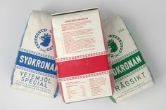 Baking Flour Packaging for Swedish Brand Sydkronan Looks Great