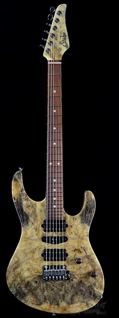 Suhr Custom Modern Natural Buckeye Burl w/ Cocobolo Fretboard, Knobs and Backplates - Wild West Guitars