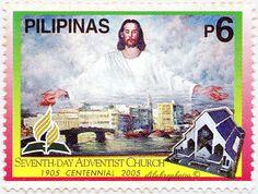 Philippjnes.  SEVENTH DAY ADVENTIST CHURCH IN THE PHILS. CENTENNARY.  Scott 2951 A934, Issued 2005 Feb 18, 6. /ldb.