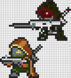 Destiny Hunters Perler Bead Pattern / Bead Sprite