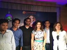 At the official launch of the game.  #SunnyLeone #TPwithSunny
