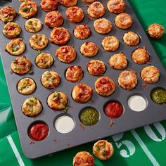 Quick and easy to make, this Game On Pizza Puffs Recipe is sure to be a fan favorite Fun Cooking, Healthy Cooking, Cooking Tips, Cooking Recipes, Cooking Games, Cooking Classes, Cooking Pasta, Cooking Broccoli, Cooking Quotes