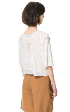 EMBROIDERED TOP - Tops - Woman - ZARA United States