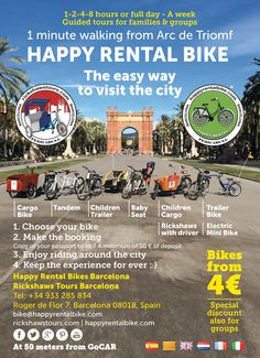 New advertising campaign at Happy Rental Bike Barcelona
