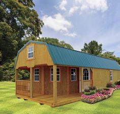 Breathtaking Choices to make your beautiful log cabins in the woods or next to a river. A must-have to take refuge from our fast pace life. Lofted Barn Cabin, Shed Cabin, Shed Homes, Cabin Homes, Tiny Homes, Dream Homes, Small Tiny House, Small Houses, Small Cabins
