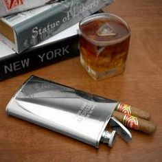 Perfect Groomsman Gift . . cigar and flask